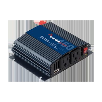 Inversor de corriente (CD-CA). Potencia nominal 450 W, Ent:12Vcd, Sal: 115Vca