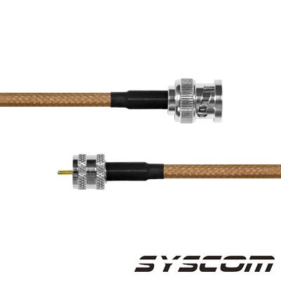 Cable Coaxial RG-142/U de 60 cm. para 50 Ohm, con Conectores BNC Macho a Mini UHF Macho.