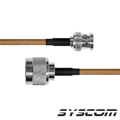 Cable Coaxial RG-142/U de 110 cm, con Conectores BNC Macho a N Macho.