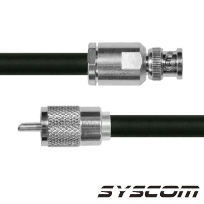 Cable Coaxial RG-214/U de 110 cm, con conectores BNC Macho a UHF Macho (PL-259).