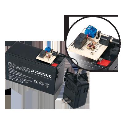 Fuente de Respaldo con Relevador para Equipos de Bajo Consumo de Energía (Requiere Batería PL4.512)