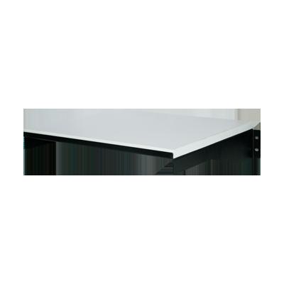 Sólida mesa de aglomerado prensado de 5-8 cubierta con fórmica y base atornillable.