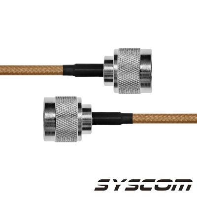 Cable Coaxial RG-142/U de 60 cm. para 50 Ohm, con Conectores N Macho a N Macho.