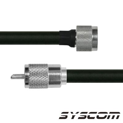 Cable Coaxial RG-214/U de 110 cm, con conectores N Macho a UHF Macho (PL-259).
