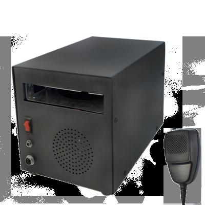 Kit para Estación Base SYSCOM, incluye fuente de poder, gabinete (G051), micrófono y bocina