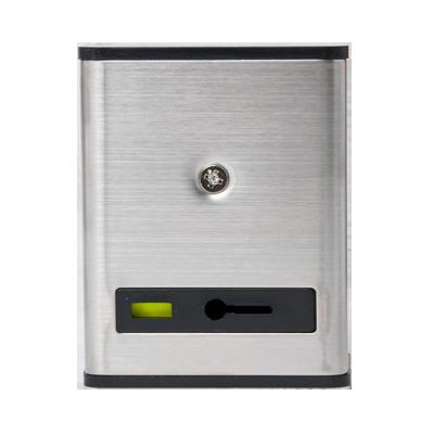 Botón de pánico con restablecimiento manual con cubierta metálica