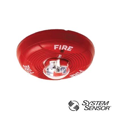 Sirena-Estrobo alimentación de 12 a 24 Vcd, color rojo