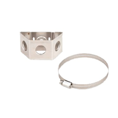 Adaptador de sujetadores de presión. Instalación en un tubo con diámetro de 1 a 2. Paquete de 10 piezas
