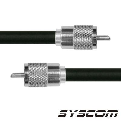 Cable Coaxial RG-214/U de 180 cm, con conectores UHF Macho a UHF Macho (PL-259).