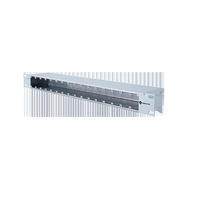 Chassis metálico de aterrizaje hasta 16 módulos Ethernet, Giga Ethernet
