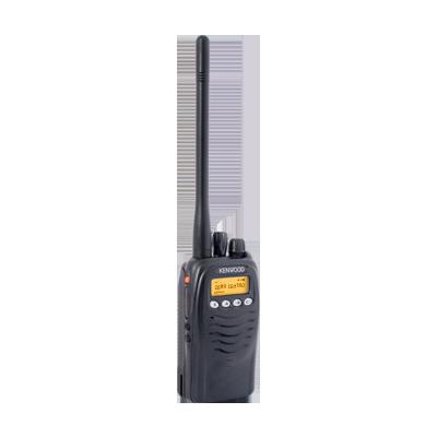 Radio analógico, 5 W, VHF 136-174 MHz, 125 canales, con pantalla, Intrínsecamente seguro