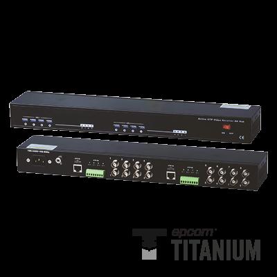 Receptor de video activo de 8 canales (distancia de video máx. 1200 m con transmisor activo)