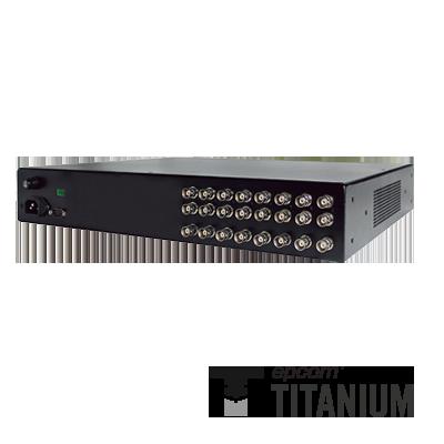 Video + poder + audio + datos, receptor de video pasivo + alimentación de 8 canales