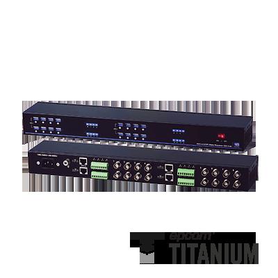 Receptor activo de 16 canales, (distancia de video máx. 1200 m con transmisor activo)
