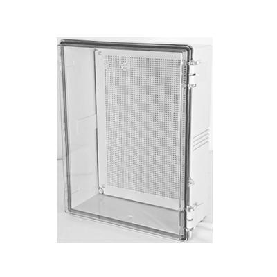 Gabinetes NEMA, cuerpo gris, cubierta transparente (250 x 350 x 150 mm), para interior y exterior