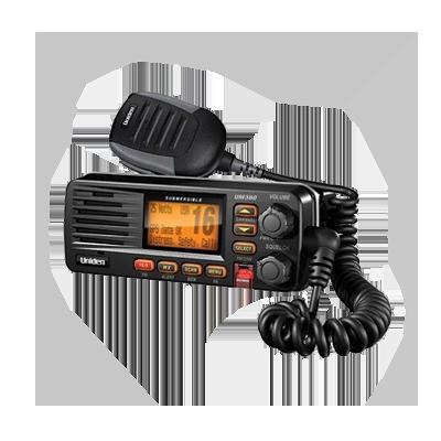 Radio Móvil Marino VHF, 25 W, Color Negro