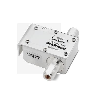 Protector de banda ancha para combinadores, conectores N Hembra (100 a 512 MHz)