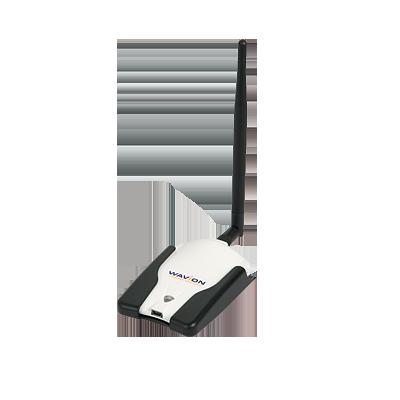 Adaptador USB para laptop, Alta Potencia, MIMO 1X1, 150 Mbps, IEEE 802.11b-g-n en 2.4 GHz, 400 mW de EIRP.(Producto WCPEn-2400-U22, P-N 32412203)