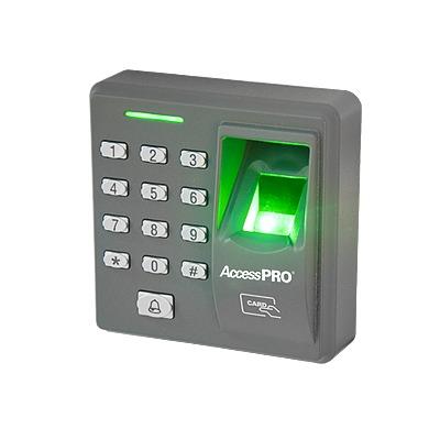 Lector de huella y proximidad con teclado autónomo, 500 huellas/500 tarjetas/8 passwords