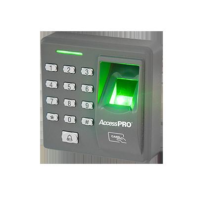 Lector de huella y proximidad con teclado autónomo, 500 huellas-500 tarjetas-8 passwords