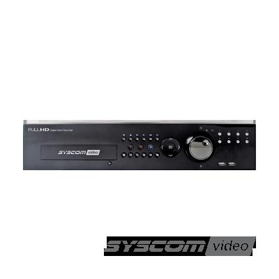 Videograbadora digital de 8 canales pWD1(soporte para 750TVL) + 4 canales IP Full HD, soporte para 4 discos duros, SYSCOM Cloud compatible