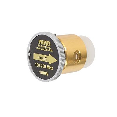 Elemento de 100 Watt en linea 7/8 para Wattmetro BIRD 43 en Rango de Frecuencia de 100 a 250 MHz.
