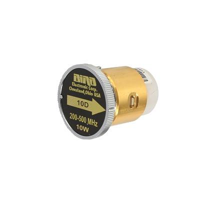Elemento de 10 Watt en linea 7/8 para Wattmetro BIRD 43 en Rango de Frecuencia de 200 a 500 MHz.