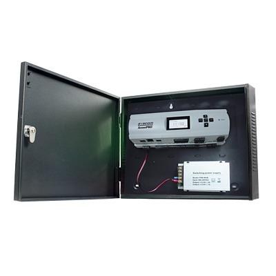 Controlador de Acceso para 2 Puertas / Biometría Integrada / 3,000 Huellas / Incluye Gabinete y Fuente de Alimentación 12VCD/5A