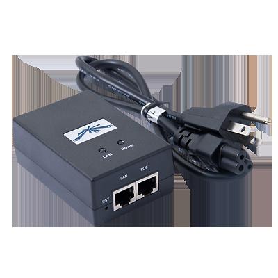 Adaptador de Power Over Ethernet (PoE) para Equipos UBIQUITI AIRMAX de 24 Vcc.