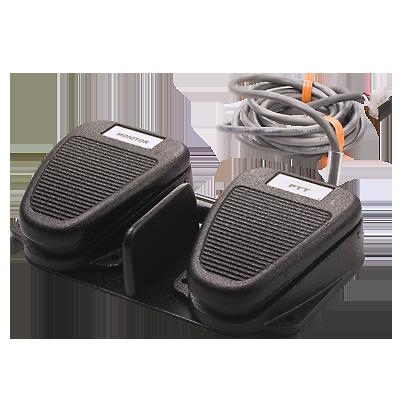 Interruptor de doble pedal con PTT. (Requiere caja de accesorios XAAB002A).