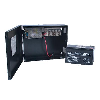 Fuente de Poder para CCTV de 4 Salidas a 12 Vcd. 2.8 Amp. con Respaldo de Baterías