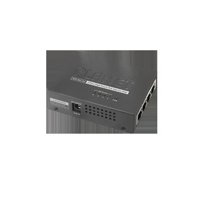 Inyector high PoE 802.3af-at de 4 puertos 10-100-1000 Mbps