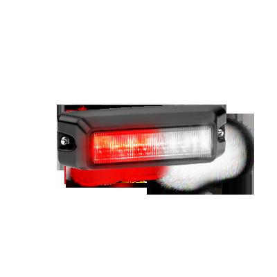 Luz auxiliar de 6 LED ?s en color rojo - claro con mica transparente.