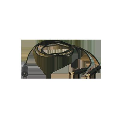 Cable con conector Jack hembra 3.5 mm con 2 sálidas de Jack macho