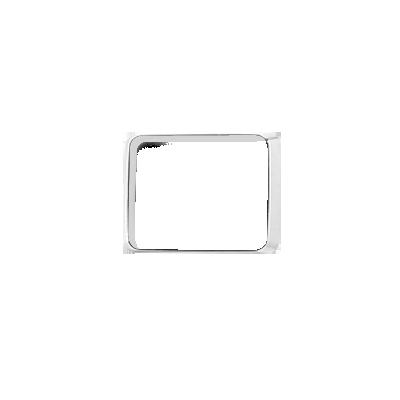 Bisel cromado con empaque para luces Quadraflare 9X7