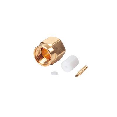 Conector SMA Macho para cable Semi-Rígido de 0.085 de Diámetro, Oro/ Oro/ Teflón.