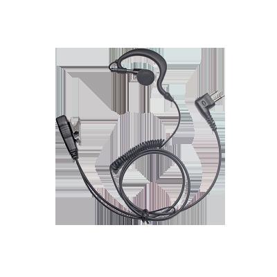 Micrófono de Solapa con Audífono Ajustable al oído. Para HYT TC-500- 508- 518- 580- 600- 610- 700 PD506, Motorola GP300- SP-50- P1225- PRO3150- MAG ONE- EP150-350- EP450- DEP450-D
