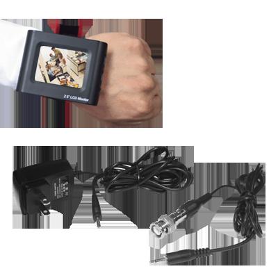 "Monitor-probador de vídeo LCD 2.5"" ideal para hacer ajuste de cámaras, totalmente portatil"