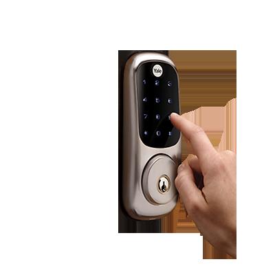 Cerradura autónoma con teclado táctil.