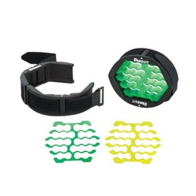 Herramienta Para Peinado y Organización de Cables, Incluye Organizador Verde para Diámetros de Cables de 4.6 a 6.3 mm y Amarillo Para 5.9 a 7.9 mm