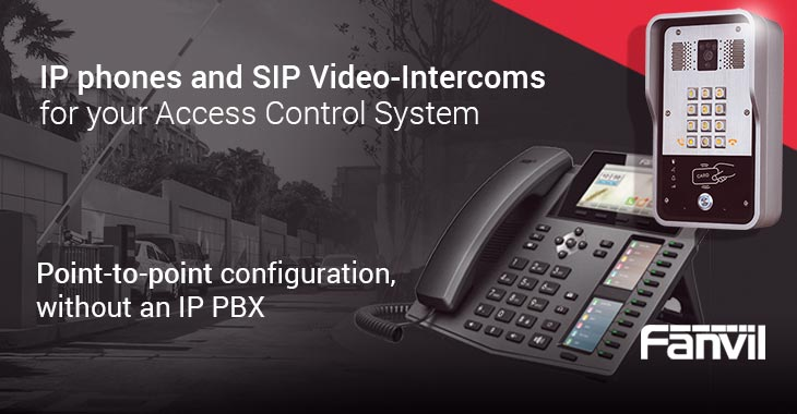 IP phones and SIP Video-Intercoms for your Access Control System