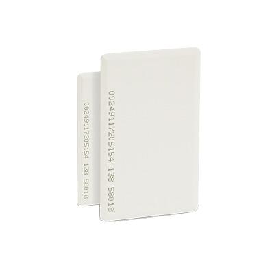 Tarjeta de proximidad estándar, perforada (gruesa), fabricada con el PVC más resistente de la industria