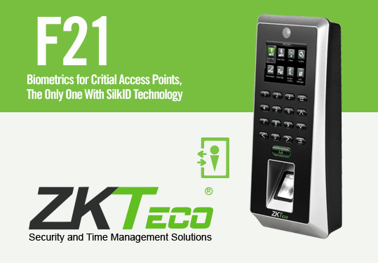ZKTeco F21 Biometrics for Critical Access Points