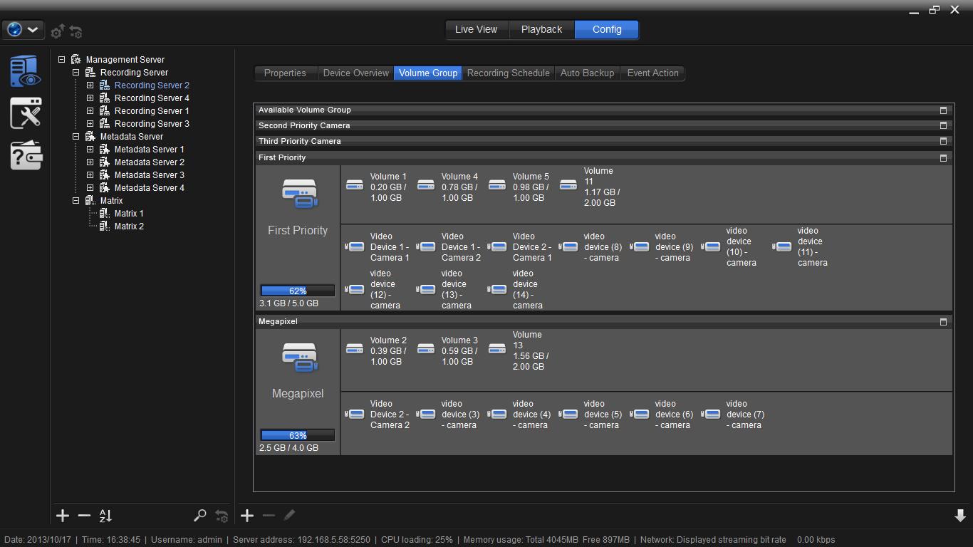 Configuracion de Camaras a HDD